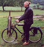 Dampfbetriebenes Fahrrad