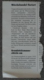 Zeitungsausschnitt - Rückseite