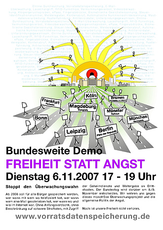 Flyer: Freiheit statt Angst
