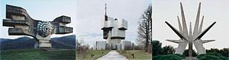 3 jugoslawische Monumente