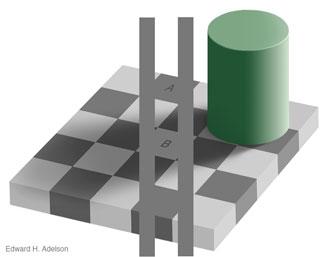 Beweis zur Schachbrett-Illusion