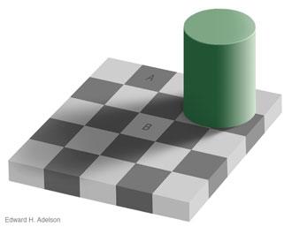 Optische Täuschung: Die Schachbrett-Illusion