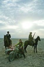 Gruppenbild: Park Chang-i (Lee Byung-hun), Park Do-won (Jung Woo-sung) und Yoon Tae-goo (Song Kang-ho)