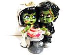 Zombie-Hochzeitstortenaufatz