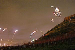 Feuerwerk auf der Staufener Burg